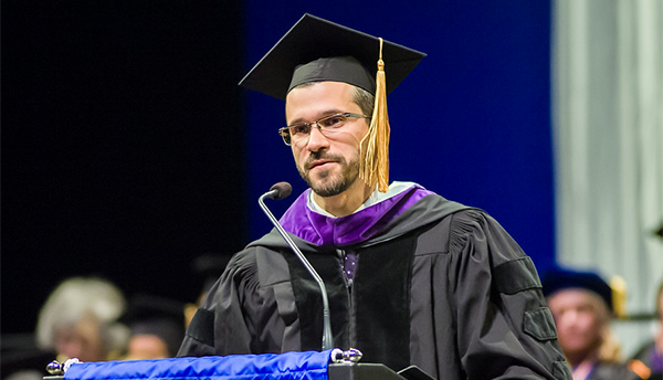 photo of Chiesa at a past commencement ceremony